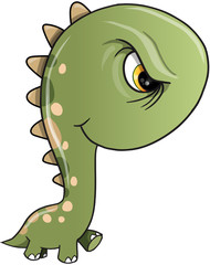 Tough Dinosaur Vector illustration Art