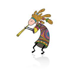 Kokopelli - Doodle style