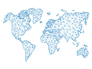 Search photos world map vector social network blue vector low poly world map illustration poin gumiabroncs Image collections