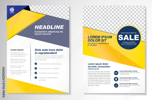 Vector Brochure Flyer Design Layout Template Size A Front Page - Easy brochure template