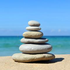 Zen, balanced stones