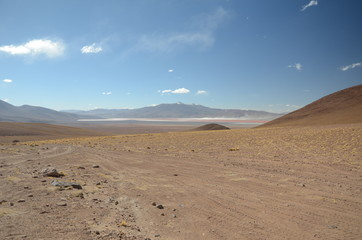 Panoramic view of wide Altiplano Bolivia