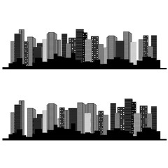 Vector of urban cityscape, symbol of business buildings, sale and lease real estate