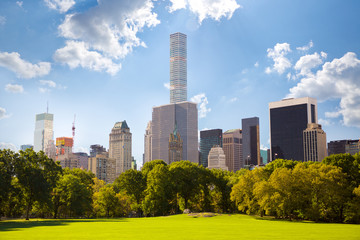 Central Park and Manhattan skyscrapers in New York City