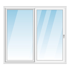 White PVC vector bay window