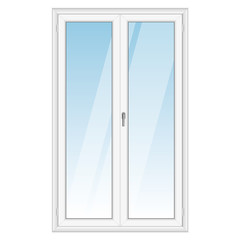 White PVC vector door