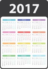 2017 Calendar With Pockets - Academic Calendar