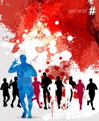 Marathon runner. Vector illustration