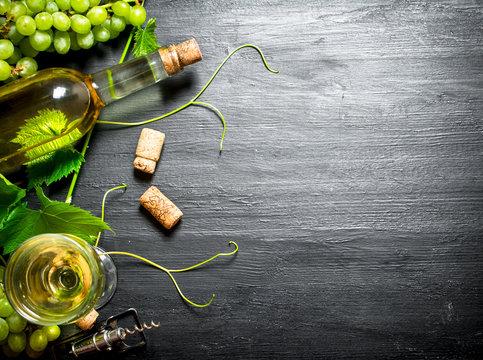 White wine with a vine.
