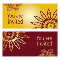 Mandala Vintage decorative invitation card.