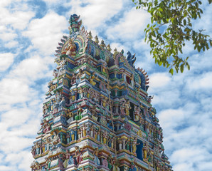 Hindu temple gopuram of Sri Lanka