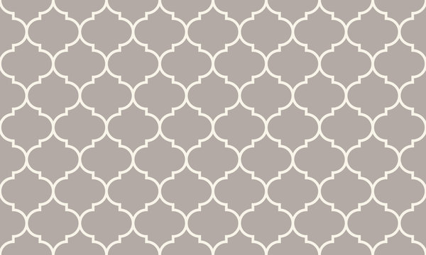 Seamless anthracite gray wide moroccan pattern vector