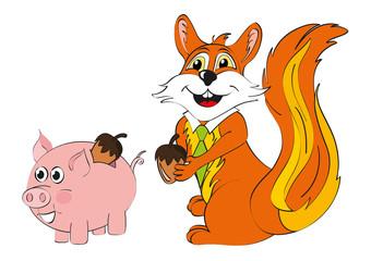scoiattolo risparmio