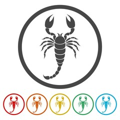 Scorpion icon set