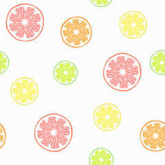 vector seamless pattern with citruses