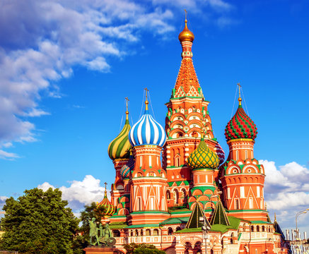 Saint Basil's Cathedral in Red Square, Moscow