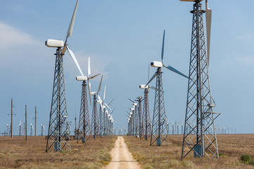 Many wind turbines.
