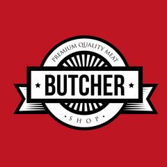 Butcher shop logo vintage vector