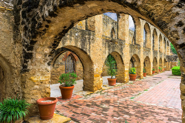 Mission San Jose in San Antonio, Texas, USA.