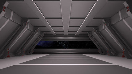 Space environment, ready for comp of your characters.3D render
