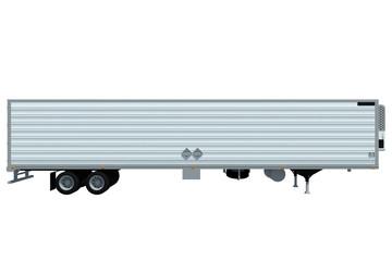 Contenedor trailer aislado 3d