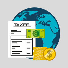 time tax payment icon vector illustration design