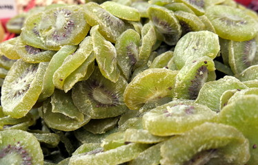 dried fruits close-up, green