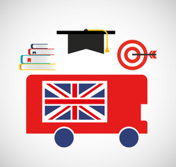 learn english education icons vector illustration design