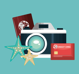 camera photography travel vacation design vector illustration eps 10
