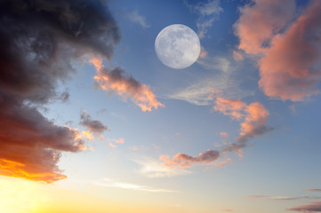 Clouds Moon