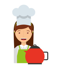 chef worker avatar character icon vector illustration design