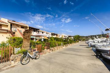 Village of Porto Ottiolu in Sardinia