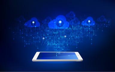 futuristic backdrop; abstract digital technology; cloud technology
