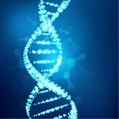 DNA symbol in technological looks; scientific background