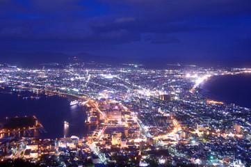 Canvas Prints Violet 函館の夜景