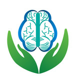 """Hands care a brain logo concept of mental health"" Stock ..."