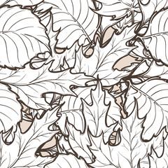 Autumn deciduous leaves seamless pattern