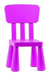 Children's chair  on a white background