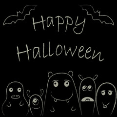 Cute monsters for Halloween1