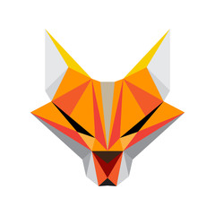 Foxible - vector logo template concept. Fox head vector sign illustration. Animal face symbol.