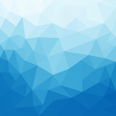 Abstract blue triangle geometrical background - Vector