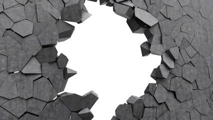 concrete wall crash