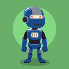 blue robot illustration design