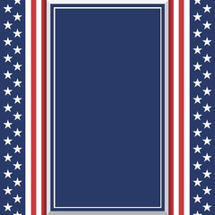 Blank abstract American background.