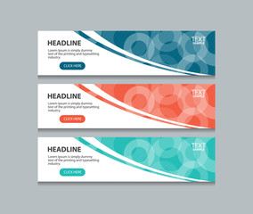 abstract web banner design template background