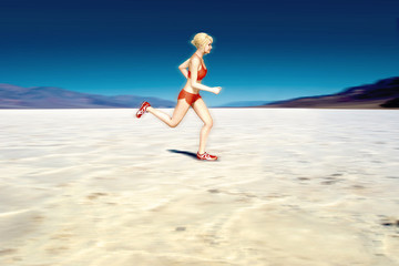 Female Runner in the Desert