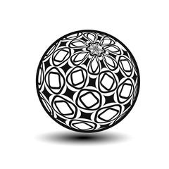 Vector globe symbol - 3d icon of sphere, ornamental orb