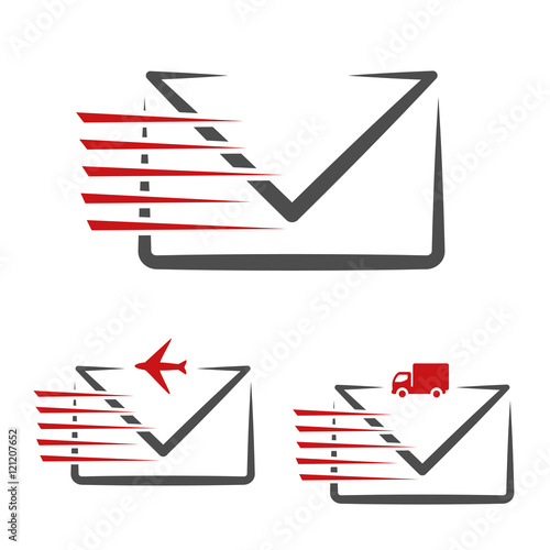Vector Speed Symbol Of Delivery Message E Mail Fast Air Transport