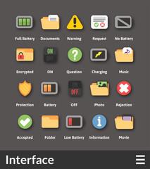 Flat material design icons set