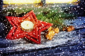 Dekoration zur Weihnachtszeit, Grußkarte